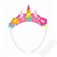 Party čelenky Jednorožec Rainbow
