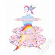 Stojan na muffiny Jednorožec Rainbow
