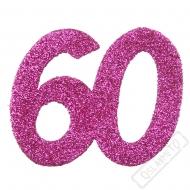 Glitrová dekorace číslo 60 růžová