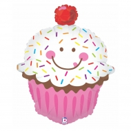 Nafukovací balón fóliový Muffin Smile 79cm