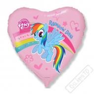 Nafukovací balónek fóliový Pony Rainbow 45cm