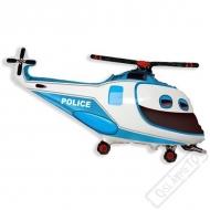 Nafukovací balón fóliový Helikoptéra Policie 80cm