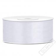 Saténová stuha šíře 2,5cm bílá