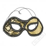 Karnevalová škraboška Vanity zlatá