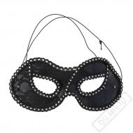 Karnevalová škraboška Vanity černá