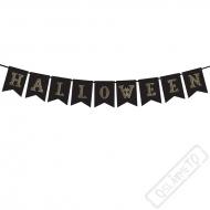 Papírový nápis Halloween Black