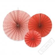 Závěsné papírové rozety červené
