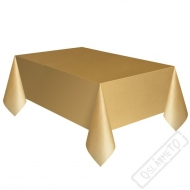 Plastový party ubrus zlatý