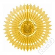 Závěsná papírová rozeta zlatá