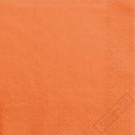 Jednobarevné papírové ubrousky oranžové