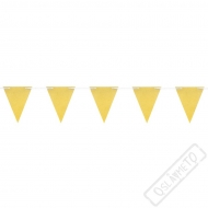 Vlaječková girlanda Gltrová zlatá