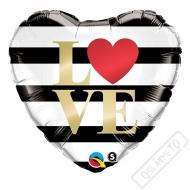 Nafukovací balónek Srdce Love Chic 45cm
