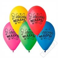 Latexový balónek s potiskem Všechno nejlepší
