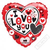 Nafukovací balónek Srdce Love You 45cm