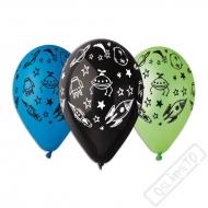 Latexový balónek s potiskem Vesmír