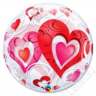 Nafukovací balón bublina Valentine 56cm
