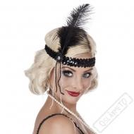 Retro čelenka Burlesque černá