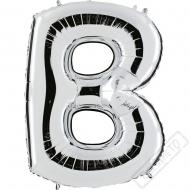 Nafukovací balón stříbrný písmeno B 101cm