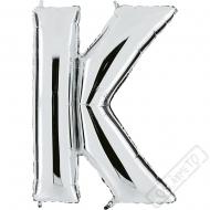 Nafukovací balón stříbrný písmeno K 101cm