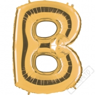 Nafukovací balón zlatý písmeno B 101cm