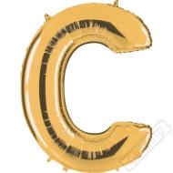 Nafukovací balón zlatý písmeno C 101cm