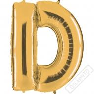 Nafukovací balón zlatý písmeno D 101cm