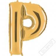 Nafukovací balón zlatý písmeno P 101cm