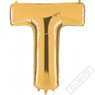 Nafukovací balón zlatý písmeno T 101cm
