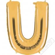 Nafukovací balón zlatý písmeno U 101cm
