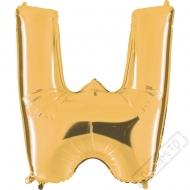 Nafukovací balón zlatý písmeno W 101cm