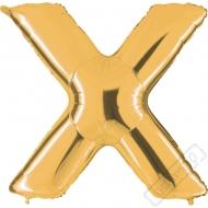 Nafukovací balón zlatý písmeno X 101cm