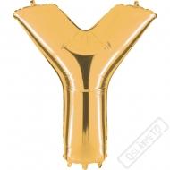 Nafukovací balón zlatý písmeno Y 101cm