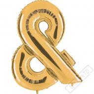 Nafukovací balón zlatý písmeno & 101cm