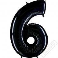 Nafukovací balón číslo 6 černý 101cm