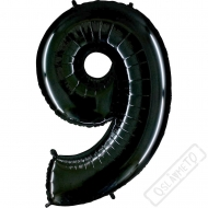 Nafukovací balón číslo 9 černý 101cm
