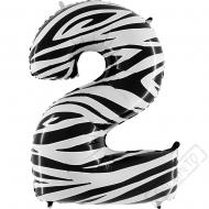 Nafukovací balón číslo 2 Zebra 101cm