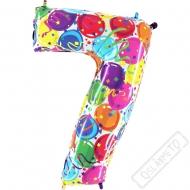 Nafukovací balón číslo 7 Party 102cm