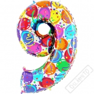 Nafukovací balón číslo 9 Party 102cm