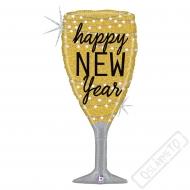 Nafukovací balón fóliový Nový rok Sekt