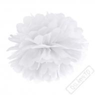 Papírová Pom pom koule bílá 35cm
