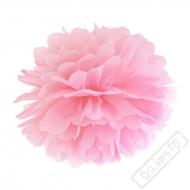 Papírová Pom pom koule růžová 35cm