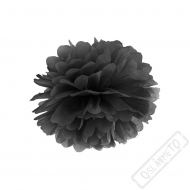 Papírová Pom pom koule černá 25cm