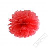Papírová Pom pom koule červená 25cm