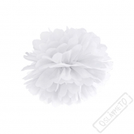 Papírová Pom pom koule bílá 25cm