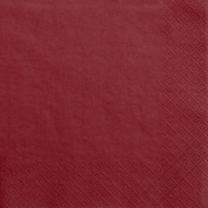 Jednobarevné papírové ubrousky bordó