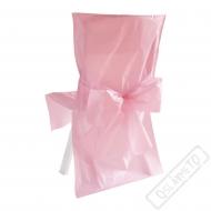 Univerzální potah na židli s mašlí růžový