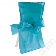 Univerzální potah na židli s mašlí modrý