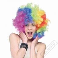 Paruka kudrnatá Klaun barevná