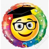Nafukovací balónek fóliový k promoci Smile 45cm