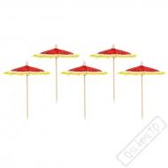 Dřevěná napichovátka s deštníčky Meloun